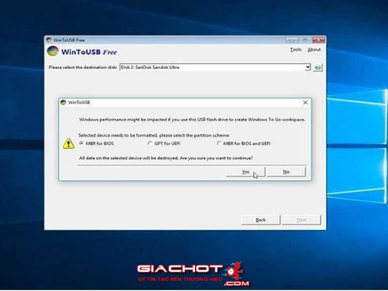 Huong dan cai va chay truc tiep Windows 10 tu tren o USB 3