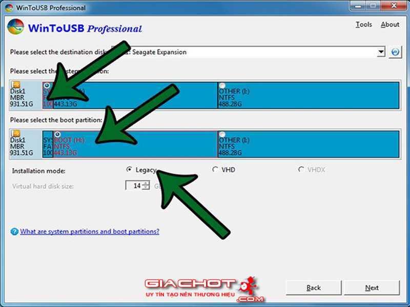 Huong dan cai va chay truc tiep Windows 10 tu tren o USB 4