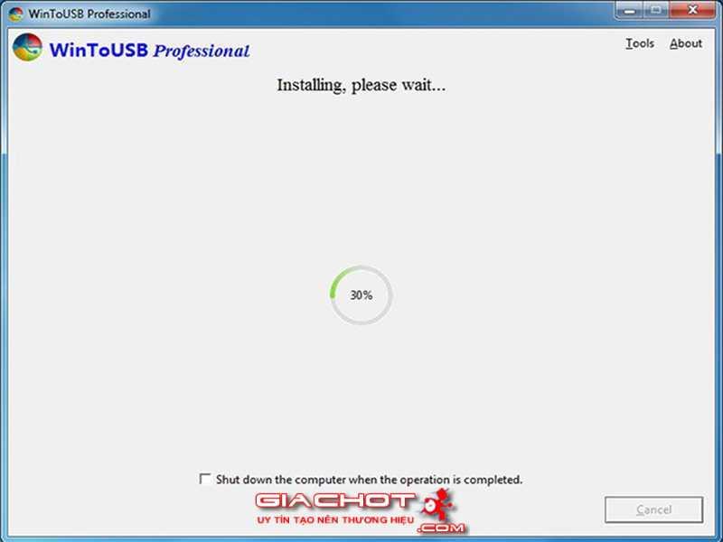Huong dan cai va chay truc tiep Windows 10 tu tren o USB 6